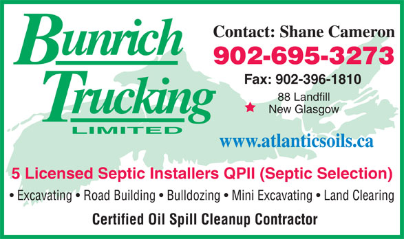 Bun-Rich Trucking Limited (902-396-4110) - Annonce illustrée======= -