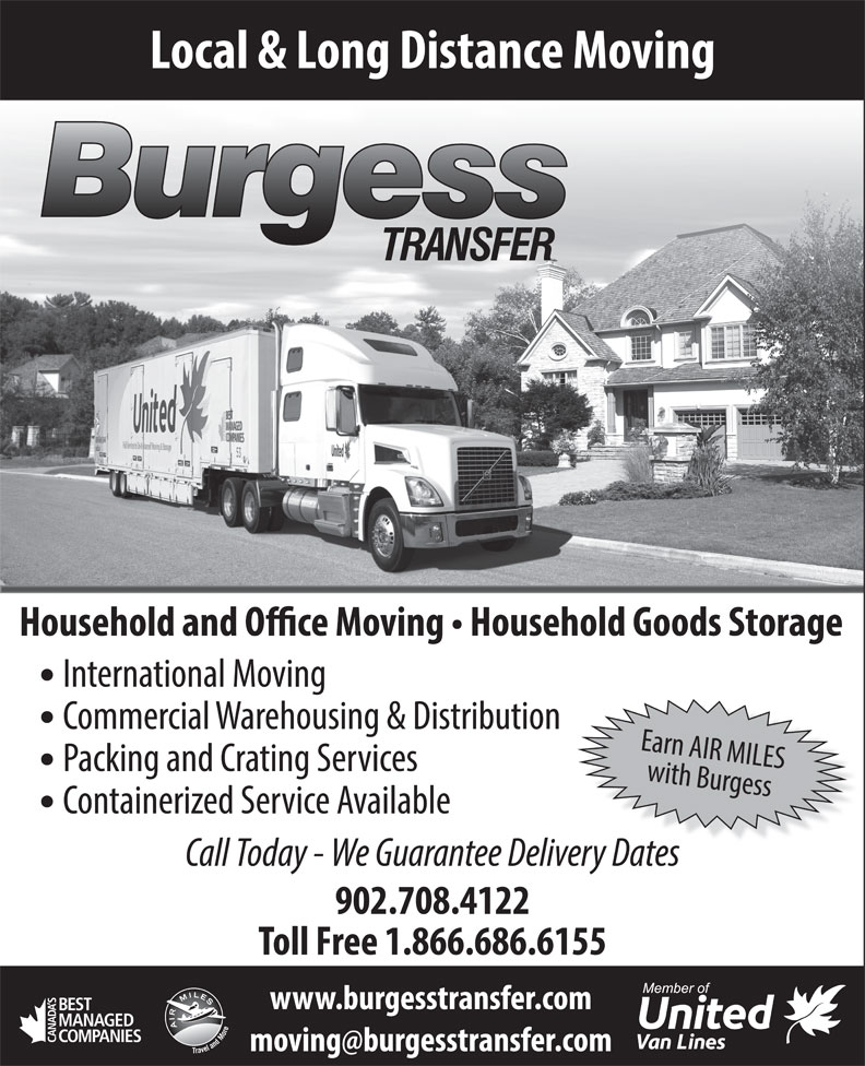 Burgess Transfer & Storage Limited (902-468-2929) - Annonce illustrée======= -