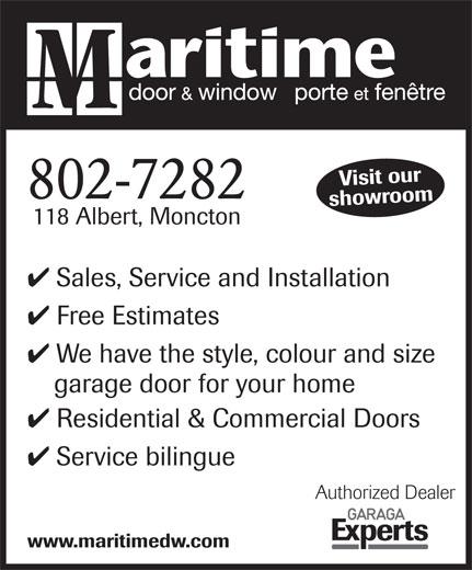 Maritime Door Amp Window Ltd Moncton Nb 118 Albert St