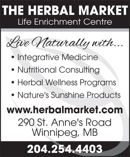 The Herbal Market (204-254-4403) - Display Ad -