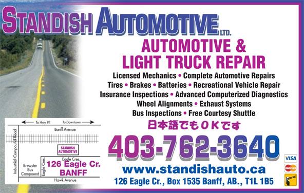 Standish Automotive Ltd (403-762-3640) - Display Ad -