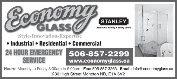 Economy Glass - 230 High St, Moncton, NB