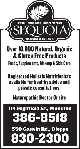 Sequoia Natural & Organic (506-386-8518) - Display Ad -