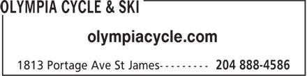 Olympia Cycle & Ski (204-888-4586) - Display Ad - olympiacycle.com