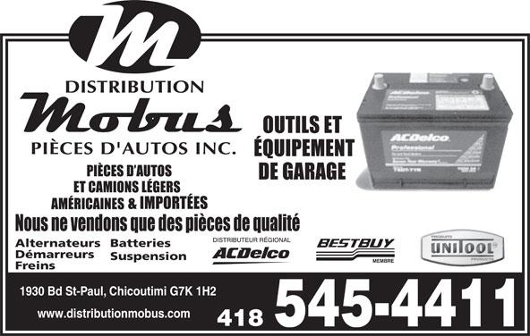 Distribution Mobus Inc (418-545-4411) - Display Ad -