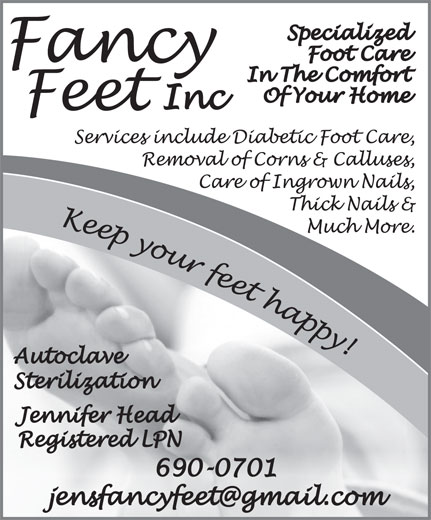 Fancy Feet Inc. (709-690-0701) - Annonce illustrée======= -