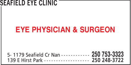 Dr Michael O'Donnell (250-753-3323) - Display Ad - EYE PHYSICIAN & SURGEON