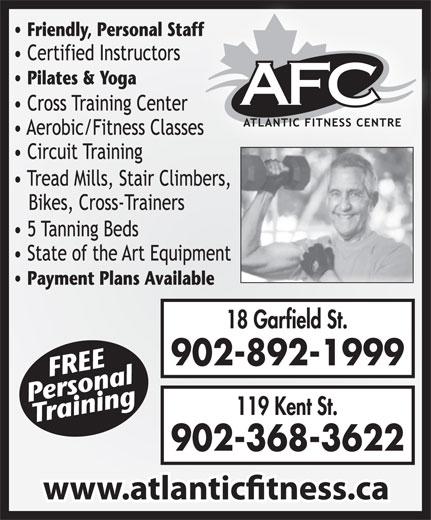Atlantic Fitness Centre (902-892-1999) - Annonce illustrée======= - 902-368-3622 902-892-1999