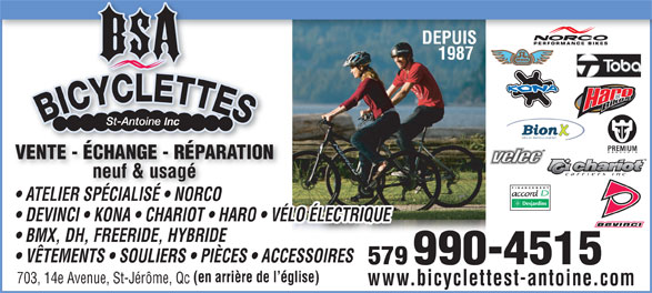 Ads Bicyclettes St-Antoine Inc