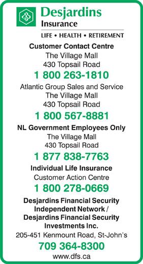 Desjardins Insurance (1-800-263-1810) - Display Ad -