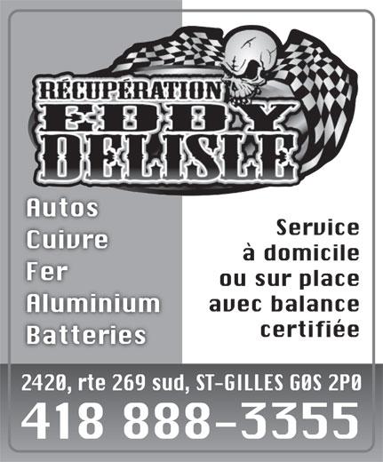Récupération Eddy Delisle (418-888-3355) - Annonce illustrée======= -