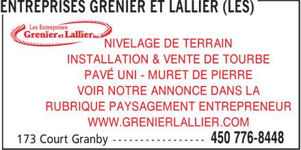 Ads Les Entreprises Grenier et Lallier
