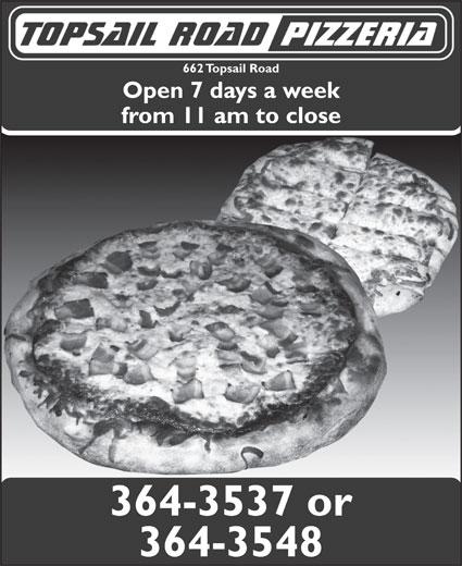 Topsail Road Pizzeria & Lounge (709-364-3537) - Annonce illustrée======= -