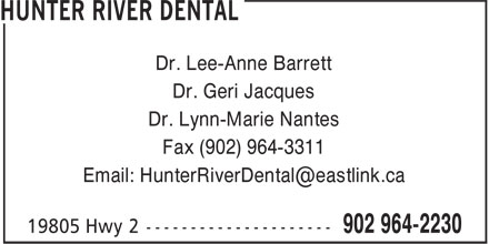 Hunter River Dental (902-964-2230) - Display Ad -