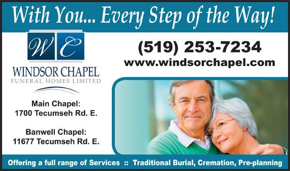 Windsor Chapel Funeral Home (519-253-7234) - Display Ad -