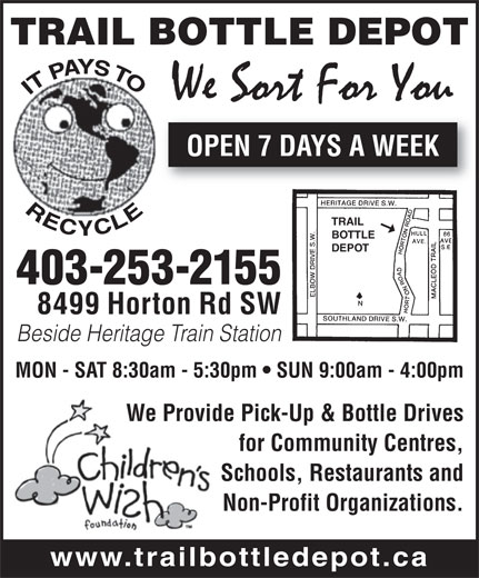 Trail Bottle Depot (403-253-2155) - Display Ad -