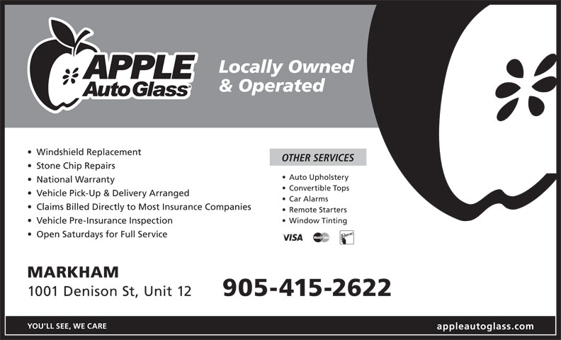 Apple Auto Glass (905-415-2622) - Annonce illustrée======= -