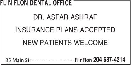 Flin Flon Dental Office (204-687-4214) - Display Ad -