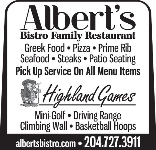 Albert S Bistro Family Restaurant Brandon Mb 2000