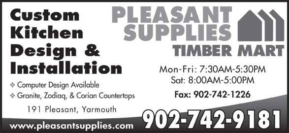 Pleasant Supplies Timber Mart 191 Pleasant St Yarmouth Ns
