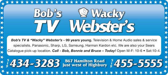 Ads Wacky Webster's TV & Home Audio