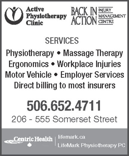 Active Physiotherapy Clinic (506-652-4711) - Display Ad -