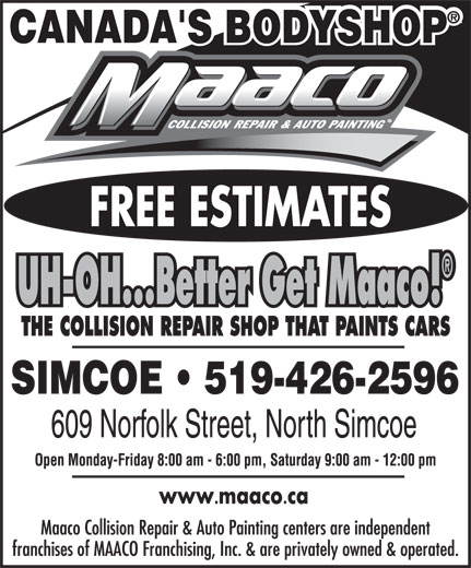 Maaco (519-426-2596) - Display Ad -