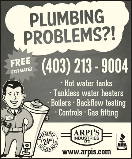Arpi's Industries Ltd (403-236-2444) - Display Ad - (403) 2139004(403) 2139004