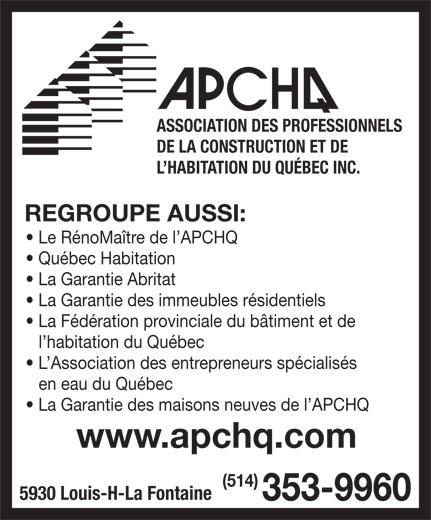 Association des professionnels de la construction et de l 39 habitation du qu bec inc anjou qc - Code de la construction et de l habitation ...