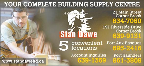 Stan Dawe Limited (709-639-9131) - Display Ad -
