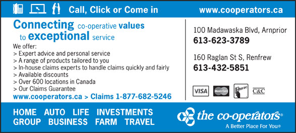 The Co-operators (613-623-3789) - Display Ad -