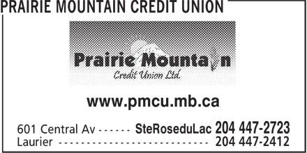 Prairie Mountain Credit Union (204-447-2723) - Display Ad - www.pmcu.mb.ca www.pmcu.mb.ca