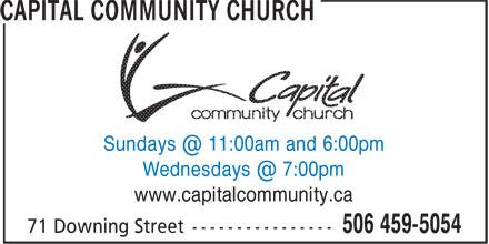 Capital Community Church (506-459-5054) - Display Ad - www.capitalcommunity.ca www.capitalcommunity.ca
