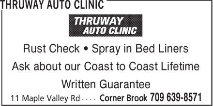 Thruway Auto Clinic (709-639-8571) - Annonce illustrée======= -