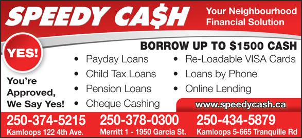 Ads Speedy Cash Payday Advances