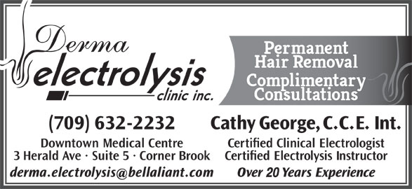 Derma Electrolysis Clinic Inc (709-632-2232) - Display Ad - 20