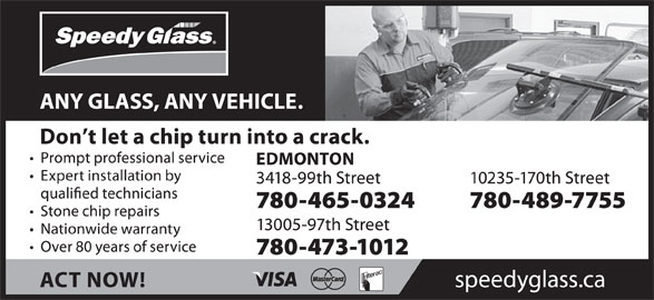 Speedy Glass (780-465-0324) - Display Ad -