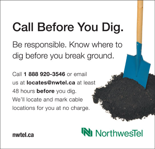 Call Before You Dig (1-888-920-3546) - Display Ad -