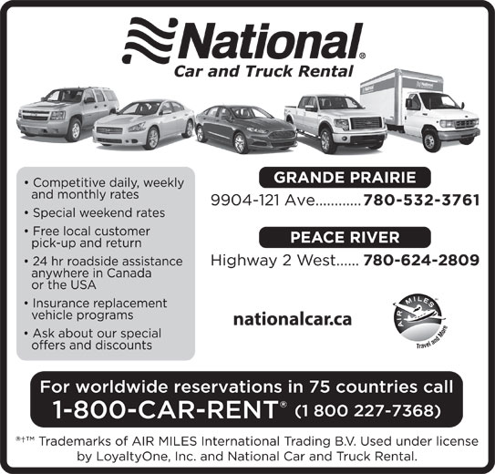 National Car Rental (780-532-3761) - Display Ad -