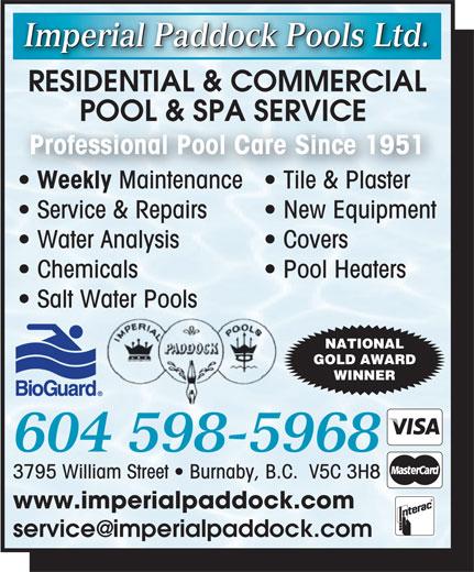 Imperial Paddock Pools Ltd 12451 60a Ave Surrey Bc