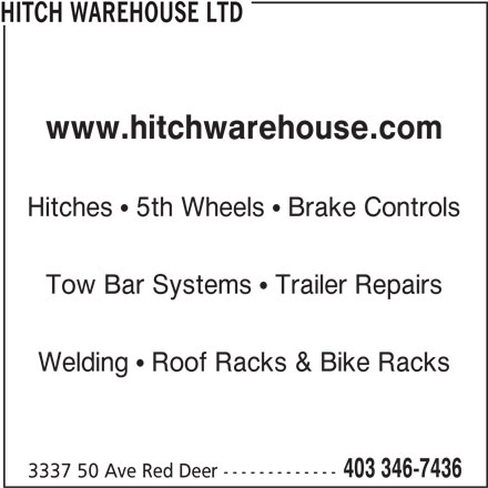 Hitch Warehouse Ltd 3337 50 Ave Red Deer Ab
