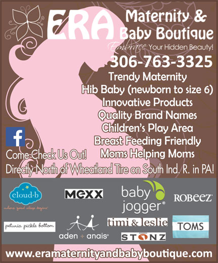 Era Maternity And Baby Boutique (306-763-3325) - Display Ad -