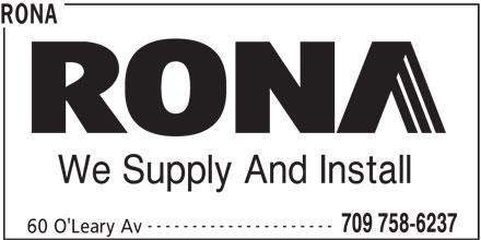 Rona Building Supplies St John Nl