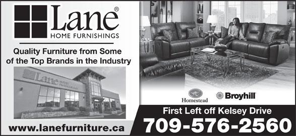 Lane Home Furnishings (709-576-2560) - Annonce illustrée======= -