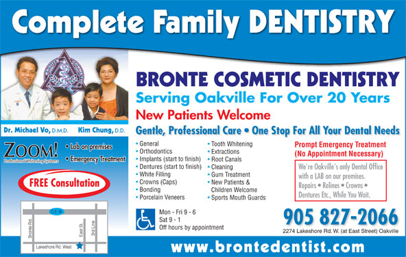 Bronte Cosmetic Dentistry (905-827-2066) - Display Ad -