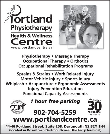 Portland Physiotherapy Health & Wellness Centre (902-469-2748) - Display Ad - 902-704-5259