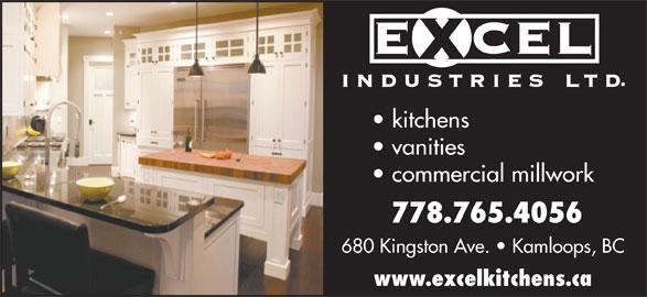 Excel industries ltd 680 kingston ave kamloops bc for Kitchen cabinets kamloops