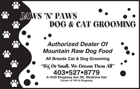 Jaws N Paws Dog Cat Grooming Medicine Hat Ab