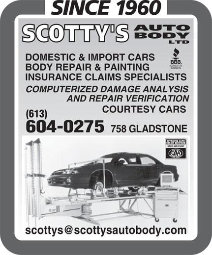 Scotty's Auto Body Ltd (613-234-8056) - Display Ad -