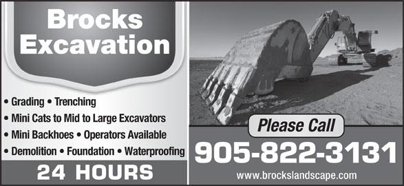 Brock's Landscaping (905-822-3131) - Annonce illustrée======= -